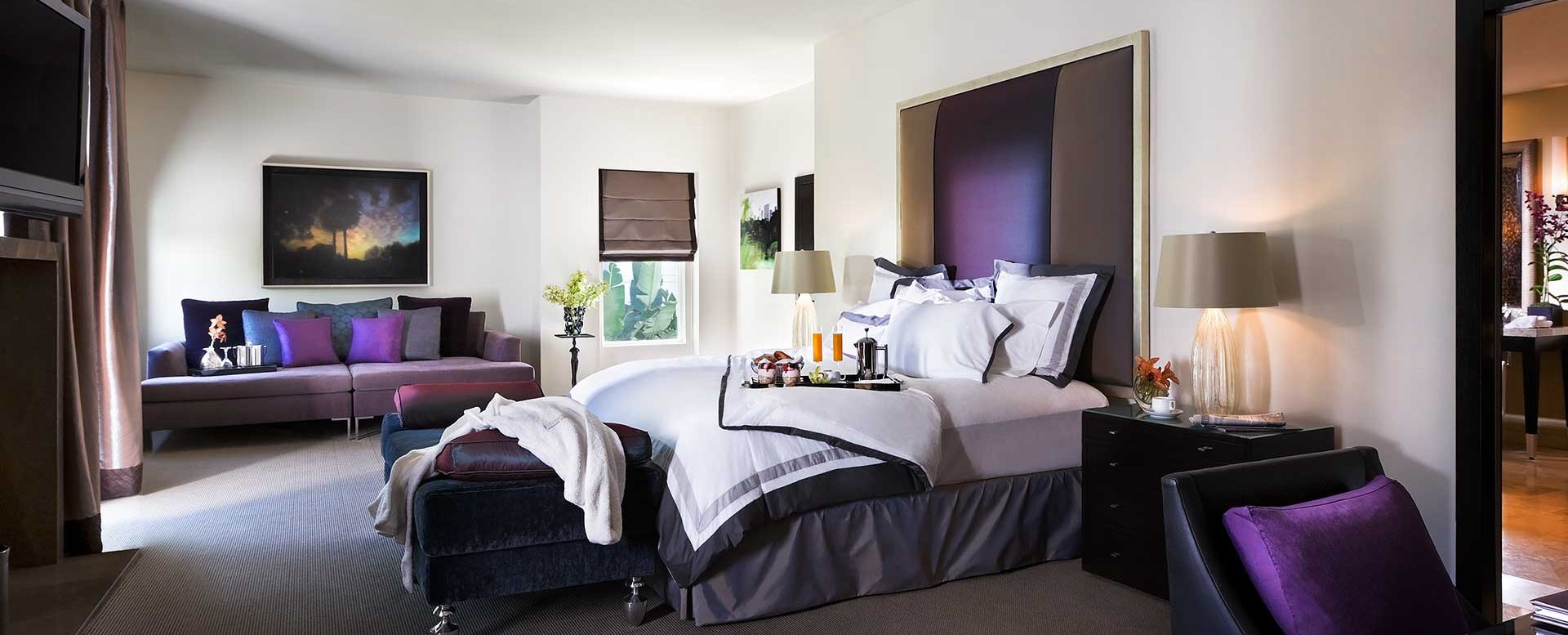 Sunset Marquis Hotel - President Suite master bedroom